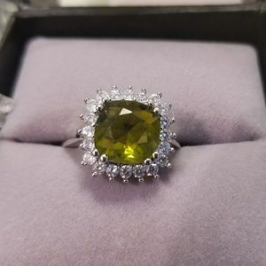 Peridot & Topaz Sterling Silver Cocktail Ring